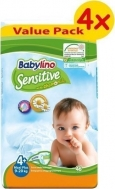 BABYLINO SENSITIVE No4+ (9-20kg) 4X46τμχ