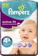 PAMPERS ACTIVE FIT Νο4+ (9-20kg) 21τμχ