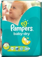 PAMPERS BABY DRY No 4 (7-18kg), 44 ΤΜΧ