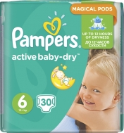 Pampers Baby Dry No6 (15+Kg) 30 τμχ