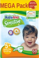 Πάνες Babylino Sensitive Mega Pack No5+ (13-27Kg) 68τεμ.