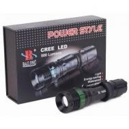 Φακός LED Επαναφορτιζόμενος 500 Lumens Αδιάβροχος Μαύρο X-BALG BL-8455