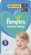 Pampers Active Baby Maxi Pack Νο 5 (11-16kg) 51τμχ