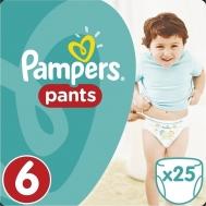 Pampers Pants No6 (16+kg), 25 Πάνες Βρακάκια