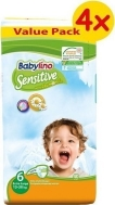 BABYLINO SENSITIVE No6 (15-30kg) 4Χ40τμχ