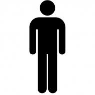 Αυτοκόλλητη PVC Πινακίδα Σήμανσης WC Ανδρών 8x15cm