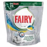 Κάψουλες Πλυντηρίου Fairy Platinum Λεμόνι 26 τεμ
