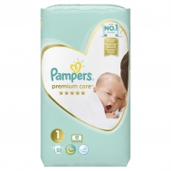 Pampers Premium Care Value Pack (52τεμ) Νo1 (2-5kg)
