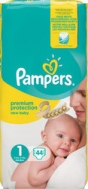 Pampers New Baby No 1 (2-5kg) 44τμχ