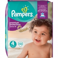 PAMPERS ACTIVE FIT Νο4 (7-18kg), 43τμχ