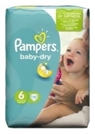 PAMPERS BABY DRY No6 (15+kg) 19τμχ