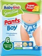 ΠΑΝΕΣ ΒΡΑΚΑΚΙ BABYLINO PANTS NO6 BOY 15ΤΜΧ (16+KG)