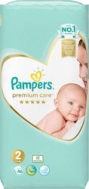 Pampers Premium Care Νο 2 (3-6kg) 46τμχ