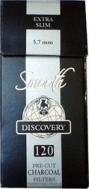 Φιλτράκια Στριφτού Swan smooth (μαύρο) Discovery extra slim 5.7mm