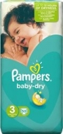 PAMPERS BABY DRY No 3 (4-9kg), 50τμχ