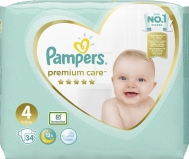 Pampers Premium Care No 4 (9-14 kg) 34τμχ