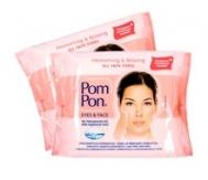 Pom Pon Μαντηλάκια Ντεμακιγιάζ  Υαλουρονικό Οξύ (40 τμχ.)