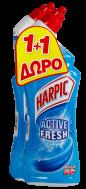 Harpic Υγρό Καθαριστικό Τουαλέτας Φρεσκάδα Θάλασσας 750ml 1+1 Δώρο
