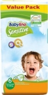 BABYLINO SENSITIVE No6 (15-30kg) 40τμχ