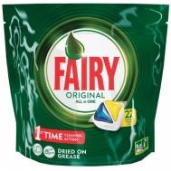 Fairy Ταμπλετεσ Πλυντηρίου Πιάτων Original Lemon 22τεμ