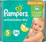 PAMPERS ACTIVE BABY DRY No5 (11-18kg) 36τμχ