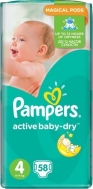 Pampers - Active Baby Dry No4 (8-14kg) 58 τμχ