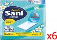 Sani Υποσέντονα Ακράτειας Maxi Plus Με Άρωμα 90x60cm 6x15τεμ