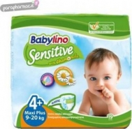 BABYLINO SENSITIVE No4+ (9-20kg) 19τμχ