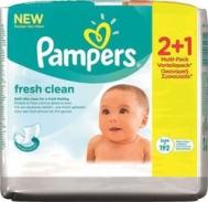 Pampers Fresh Clean 2*64τμχ & Δώρο 1*64τμχ