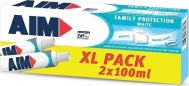AIM ΟΔΟΝΤΟΚΡΕΜΑ FAMILY PROTECTION WHITE 2X100ml