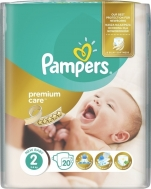 PAMPERS ΠΑΝΕΣ PREMIUM CARE No2 (3-6kg) 20τμχ