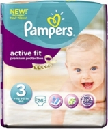 PAMPERS ACTIVE FIT Νο3 (4-9 kg) 26τμχ