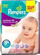 PAMPERS ACTIVE FIT Νο3+ (5-10kg), 45τμχ