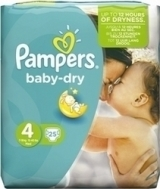 PAMPERS BABY DRY No4 (7-18kg) 25τμχ