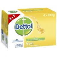 Dettol Σαπούνι Μπάρα Fresh 100γρ. 3+1 Δώρο