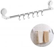 Bathlux Κρεμάστρα Τοίχου 6 Θέσεων για Πετσέτες