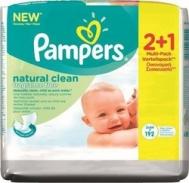 Pampers Natural Clean 2*64τμχ & Δώρο 1*64τμχ