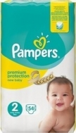 Pampers New Baby No2 (3-6 kg) 54τμχ