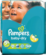 PAMPERS BABY DRY No 5+ (13-27kg), 35ΤΜΧ