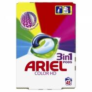 Ariel 3 Σε 1 Απορρυπαντικό Πλυντηρίου Colour 45Κάψουλες