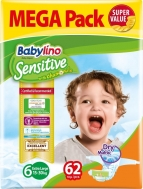 Babylino Sensitive Mega Pack No6 (15-30Kg) 62τμχ