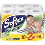 Softex Ρολά Υγείας Pure & Soft 10 +2 τεμ Δώρο