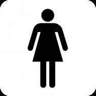 Αυτοκόλλητη PVC Πινακίδα Σήμανσης WC Γυναικών 8x15cm