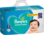 Pampers Active Baby Giant Pack No 3 (6-10kg) 104τμχ