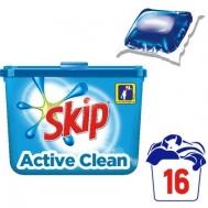 Skip Απορρυπαντικό Κάψουλες Active Clean (16τεμ.)