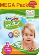 Πάνες Babylino Sensitive Mega Pack No5 (11-25Kg) 72τεμ.