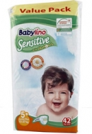 BABYLINO SENSITIVE No5+  (13-27kg) 42τμχ