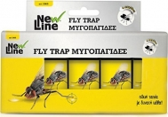Fly Trap Μυγοπαγίδες Με Κόλλα 4 Τεμάχια New Line