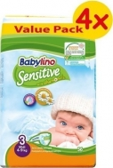 BABYLINO SENSITIVE No3 (4-9kg) 4X56τμχ