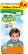 BABYLINO SENSITIVE No7 (17+kg) 4X38τμχ
